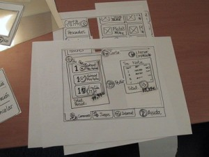Paper prototypes are quick, cheap and effective in testing new concepts (photo: theuxreview.co.uk)