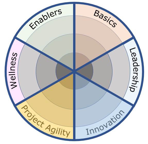 Image of the six areas in the Remote Work Capability Builder